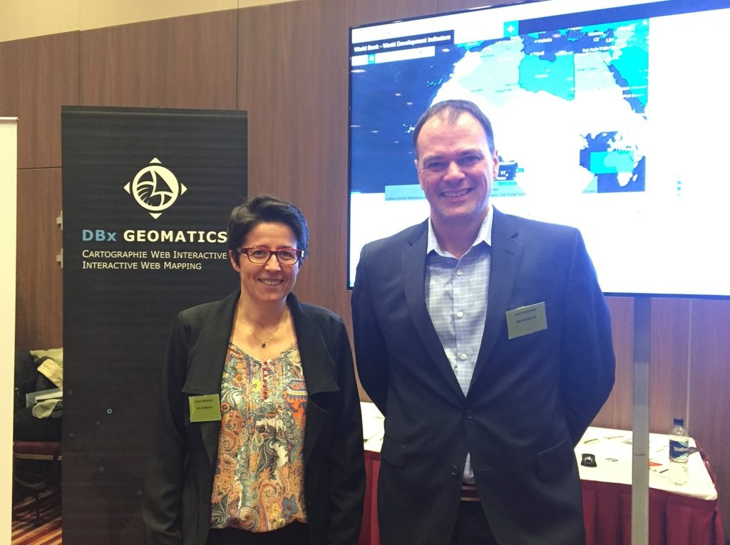 Cécile Peignelin & Dany Bouchard at GeoDATA London 2015.