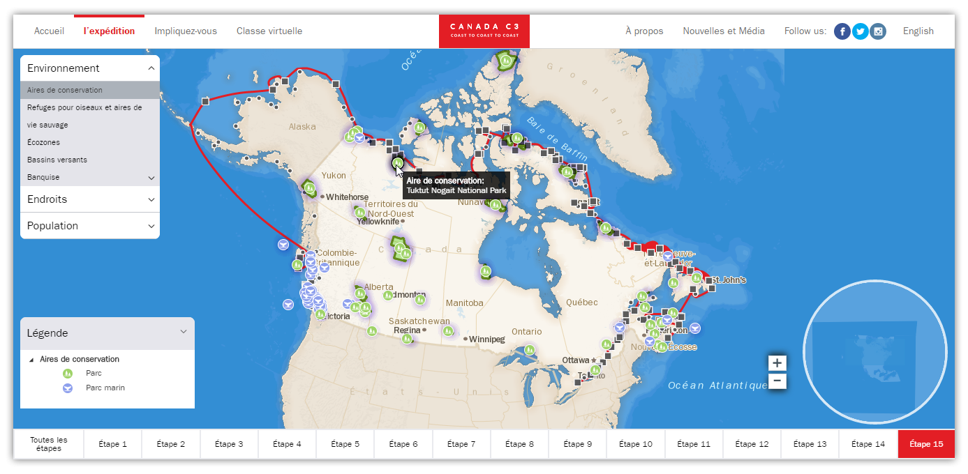 Map Of Canada Interactive.Innovation By Cartovista Visually Showcases The Canada C3 Expedition