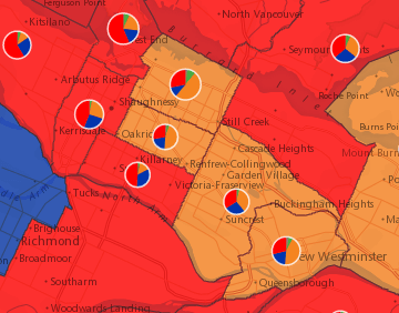 2015 Canadian Federal Election Results - Interactive Map on