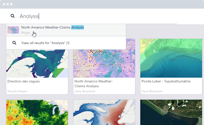 Organize Maps and Data