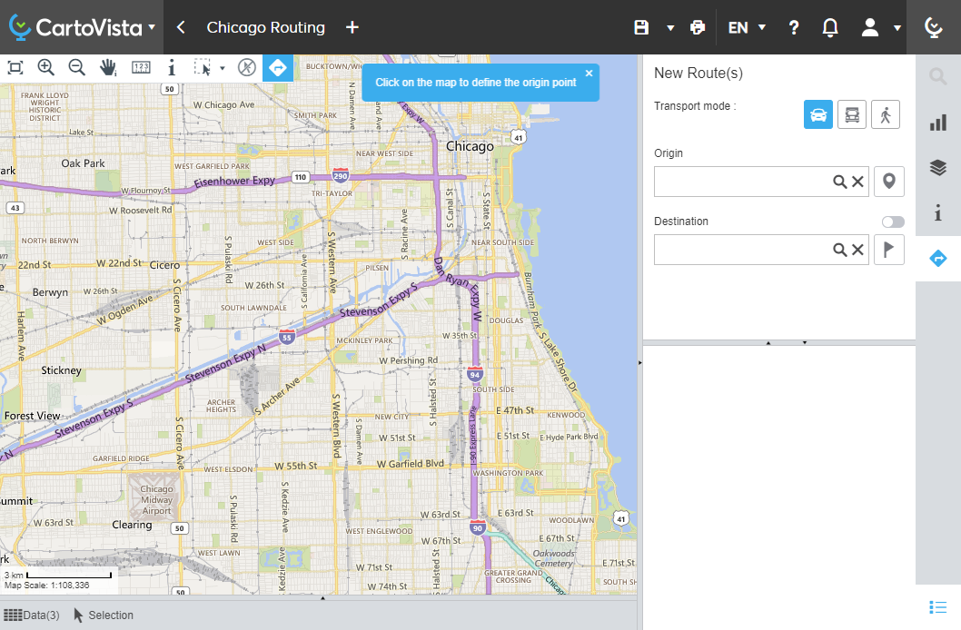 routing map